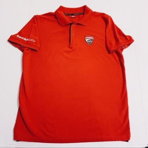 Ducati Corse Vintage Motorcycle Embroidered Polo
